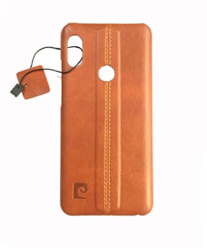 best website 4da90 e5f19 Aarnik Pierre Cardin Style Luxury Leather Back Cover for Xiaomi Redmi Note  5 Pro (Brown)