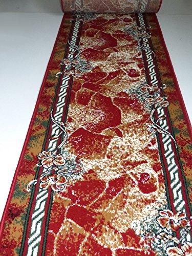 Läufer nach Maß Bettumrandung Rot 1752 lfm. 13,90 Euro Breite 80 x 300 cm