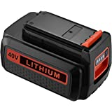 Powerextra 40 Volt MAX 2.0Ah Replacement Battery for Black and Decker LBX2040 LBX36 LBXR36 LBXR2036 40V Lithium Ion Battery
