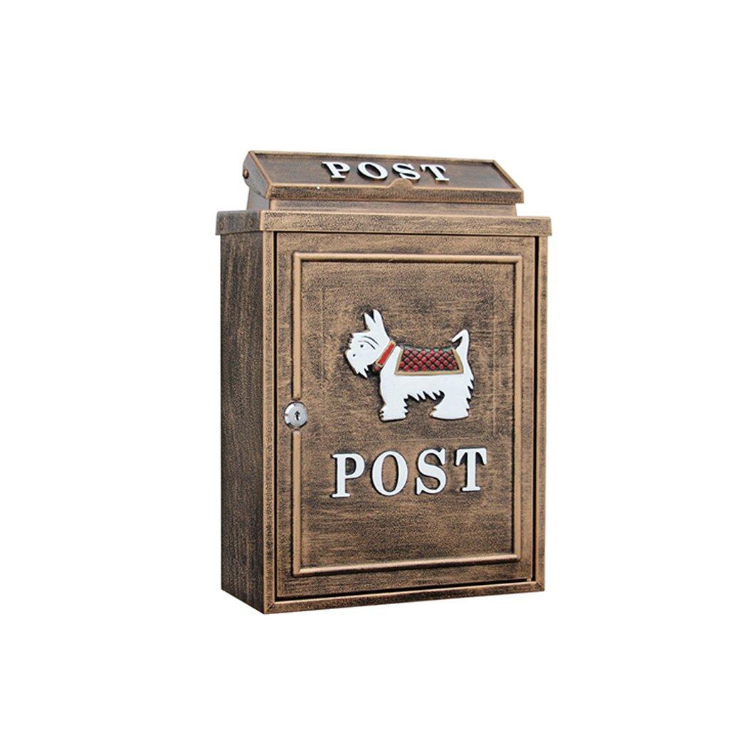 多機能メールボックス ロックポストボックス付きヨーロッパのレターボックス屋外雨水ヴィラのメールボックスの壁 (色 : A)  A B07L5DH6R6
