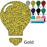 Color Theory Glitter Heat Transfer Vinyl (HTV) 20'' x 5yd Gold