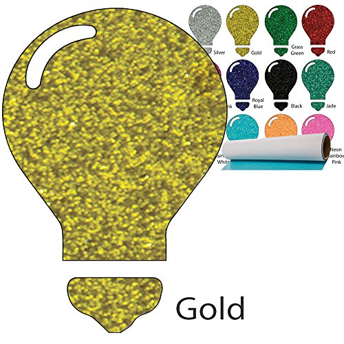 Color Theory Glitter Heat Transfer Vinyl (HTV) 20'' x 5yd Gold by Greenstar