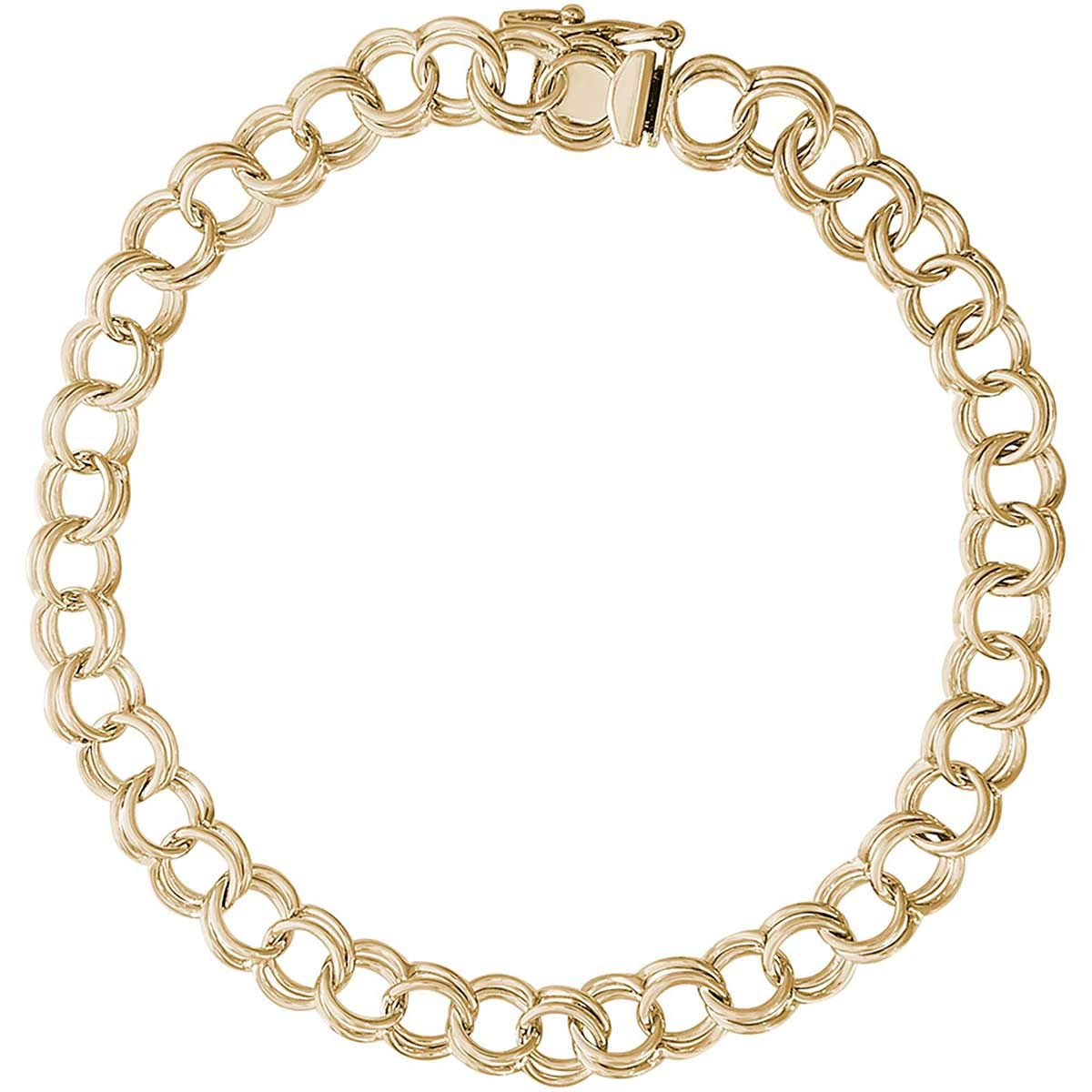 Rembrandt Charms 8'' Charm Bracelet, Gold Plated Silver