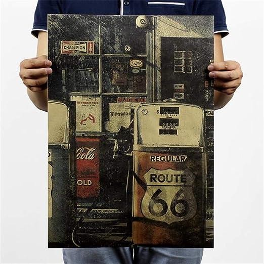 BOENTA Posters Cartel Retro De Papel Kraft Vintage Estados ...