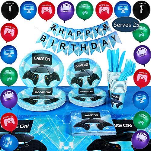 Birthday Supplies - 163 Piece Premium Video Gaming Party