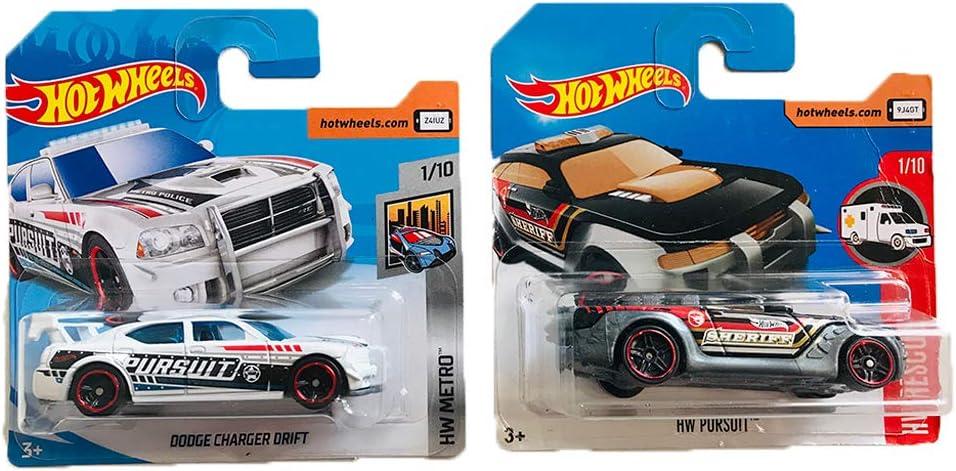 Hot Wheels Dodge Charger Drift & HW Pursuit HW Metro & HW Rescue Pack 2: Amazon.es: Juguetes y juegos