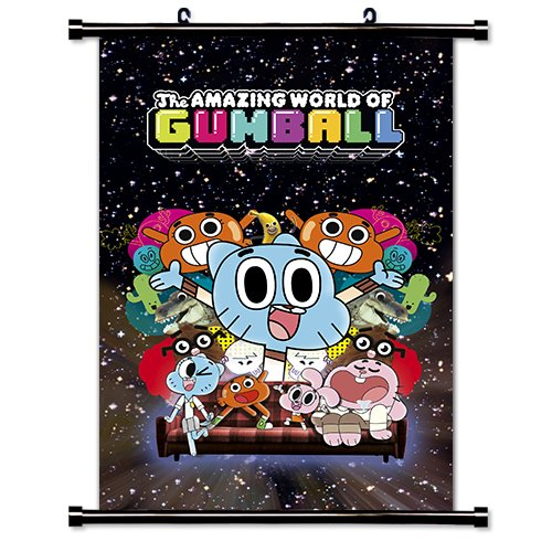 The Amazing World of Gumball TV Show Cartoon Network Fabric Wall Scroll Poster (16