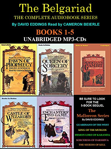 The Complete Belgariad Series Books 1-5 (Pawn of Prophecy, Queen of Sorcery, Magician's Gambit, Castle of Wizardry & Enchanters End Game) [Unabridged MP3-CD] by David Eddings (Pawn Of Prophecy Cd)