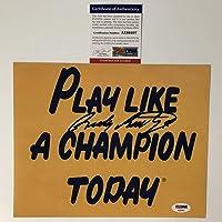 $54 » Autographed/Signed Rudy Ruettiger Play Like A Champion Today Notre Dame Irish 8x10 Football Photo PSA/DNA COA #2