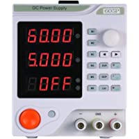 KKmoon 4 Digits Display LED Programmable DC Power Supply High Precision DC Electrical Source Variable Adjustable 0-60V 0-5A DC Switching Power Supply Digital Regulated Lab Grade