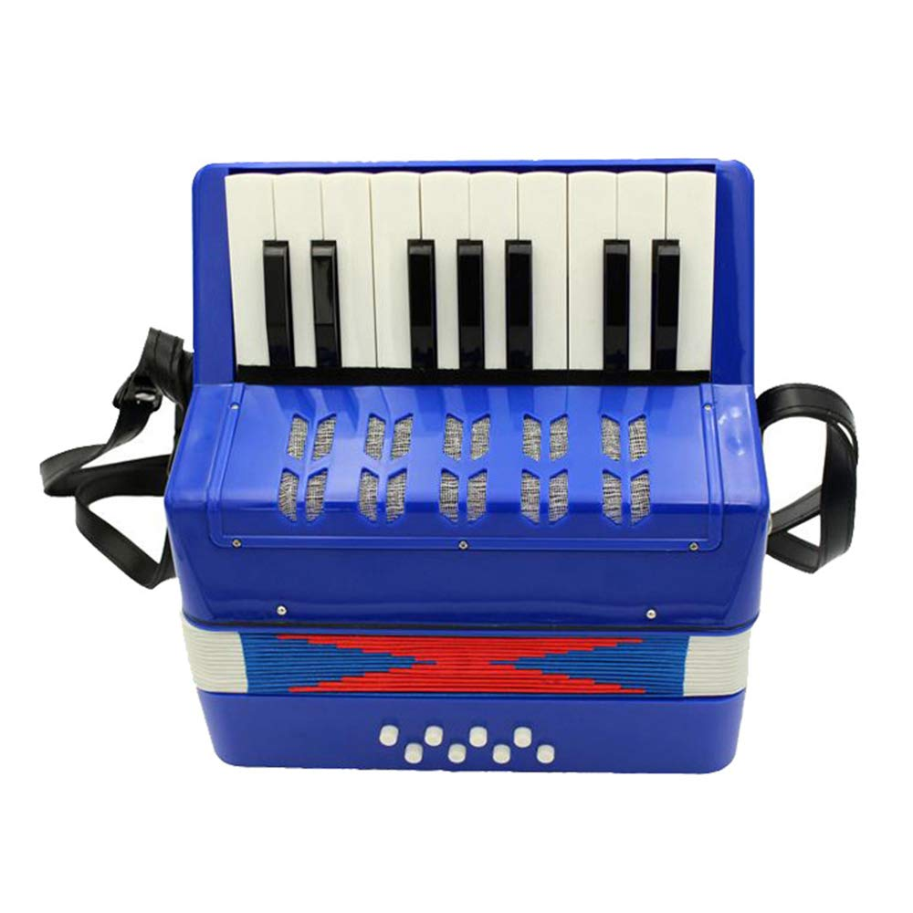 TECHLINK Accordions Toy Childern Musical Instrument Musical Accordion Portable 17 Keys 8 Bass Promotes Education Children's Gift by TECHLINK (Image #1)