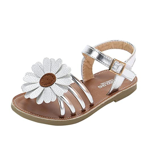 b82c4b541c3 Amazon.com  Lurryly Toddler Flower Roman Sandals