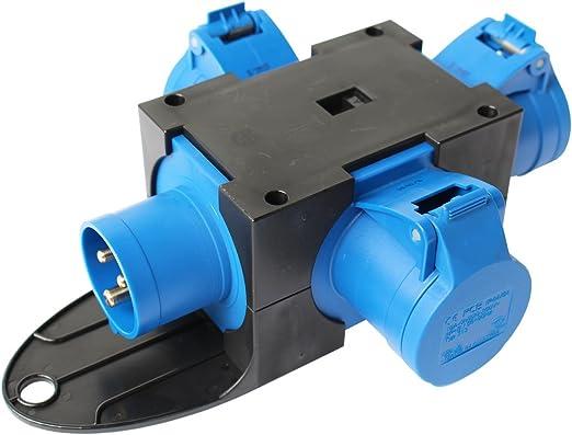 Stromverteiler 16A   3 x 230V CEE 230V Adapter Stromverteiler Adapter