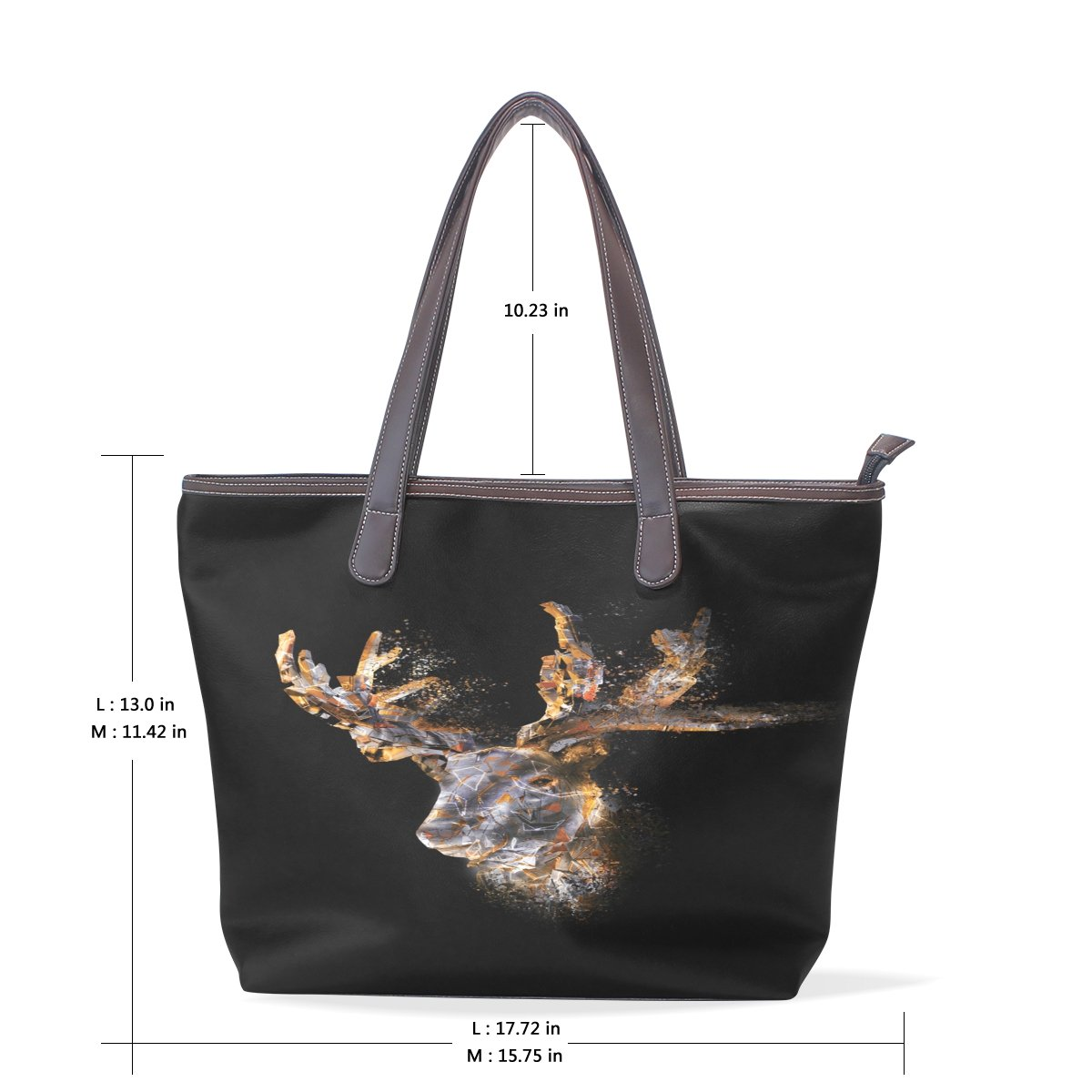 Mr.Weng Household Star Elk Lady Handbag Tote Bag Zipper Shoulder Bag