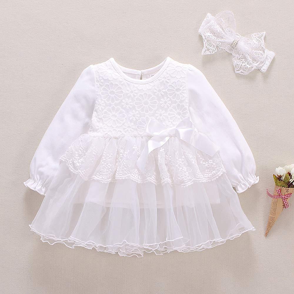 47d1bfdae042a S Mベビー服女の子ドレス長袖フォーマルワンピース新生児ホワイト結婚式セレモニー product image
