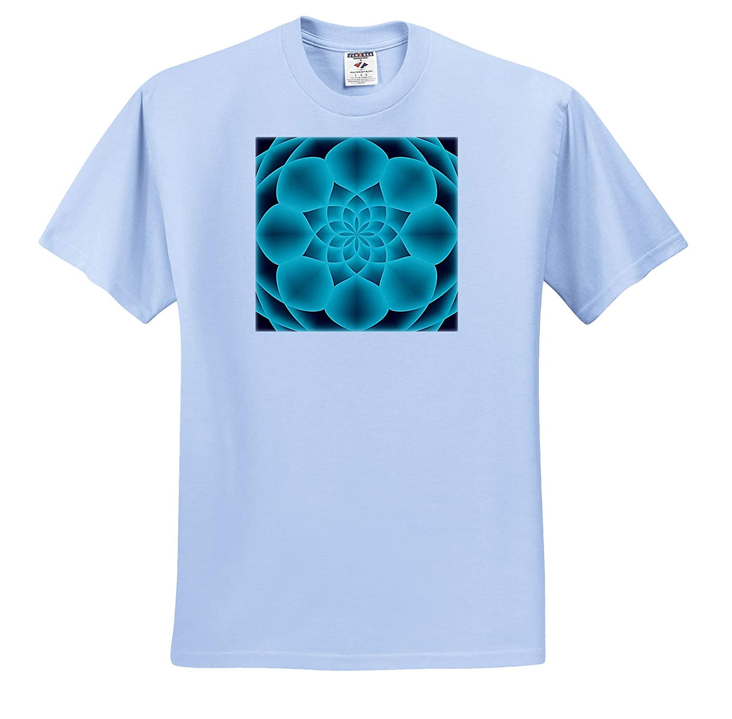 T-Shirts Symmetrical Modern Abstract Design in Shades of Turquoise 3dRose Andrea Haase Abstract Art and Design