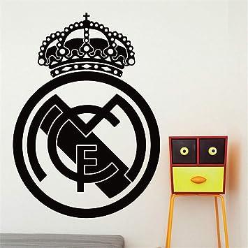 pegatina de pared 3d Balón de fútbol Club de fútbol Real Madrid ...