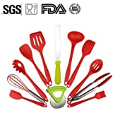 12 PCS Silicone Utensils Heat Resistant Silicone Kitchen Utensils Non Stick Non Scratch Cooking Utensils, Kitchen Good Helper