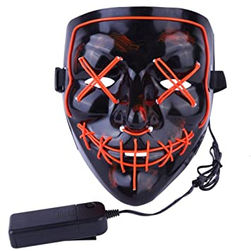 Atimier 2018 Máscara de Halloween LED Light Up Purge Mask Festival Cosplay Disfraz de Halloween: Amazon.es: Juguetes y juegos
