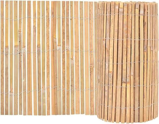vidaXL Gartenzaun Bambus 1000x50cm Beetumrandung Beeteinfassung ...
