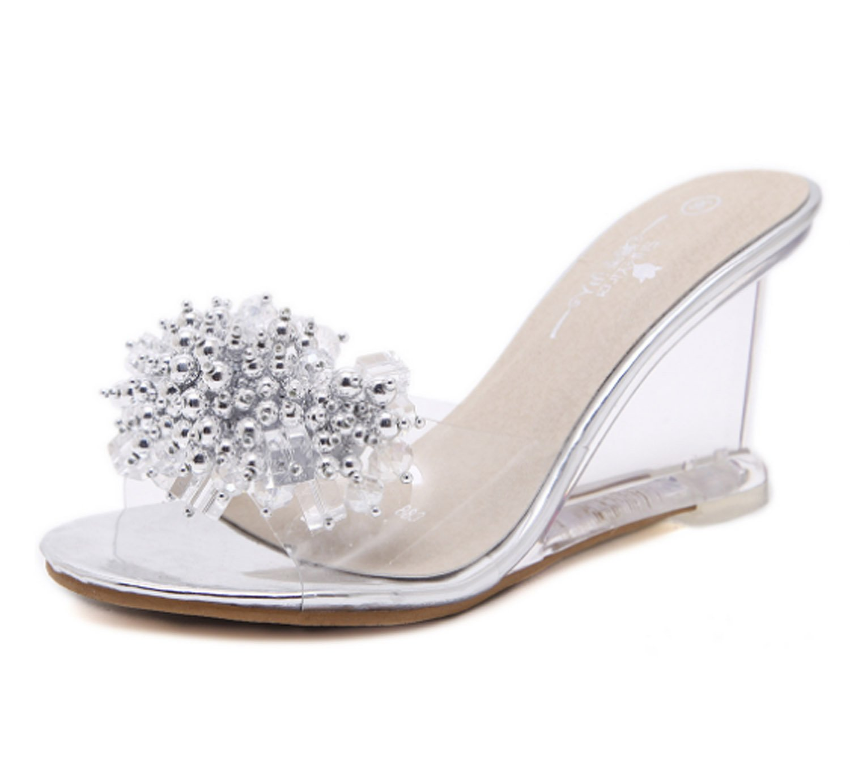 9b53723b28c35 Amazon.com: Huaishu Women's Wedges Sandals Summer Crystal ...