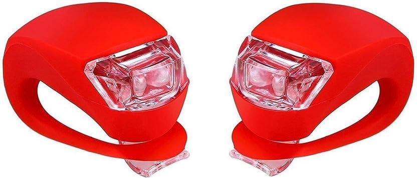 Juego de 2 luces LED de silicona para bicicleta delantera y ...