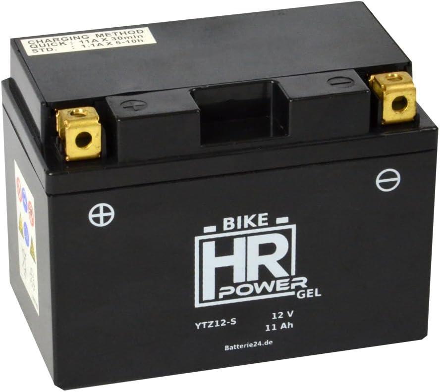 Gel Motorrad Batterie Starterbatterie YTZ12-S 12V 11Ah wartungsfrei