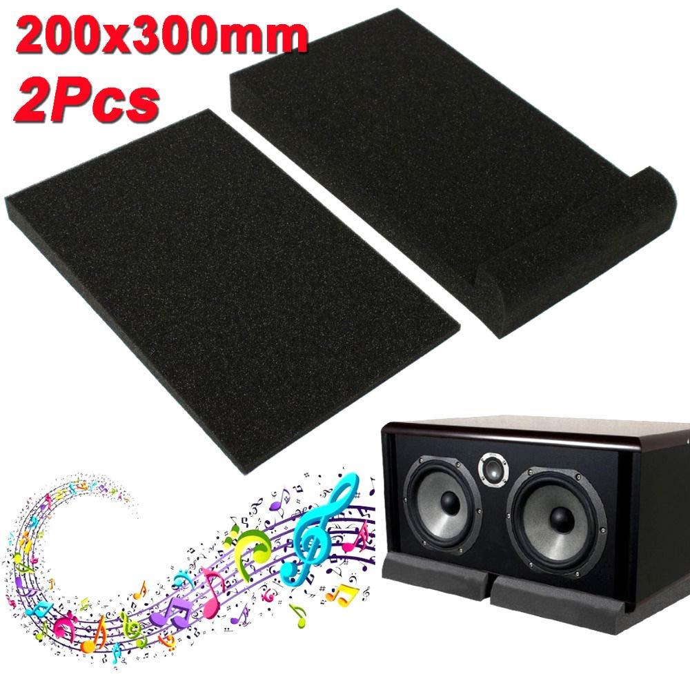 1 Set Speaker Sponge Pad Sponge Studio Monitor Speaker Acoustic Isolation Foam Isolator Pads 30x20x4 5cm Amazon Com Industrial Scientific