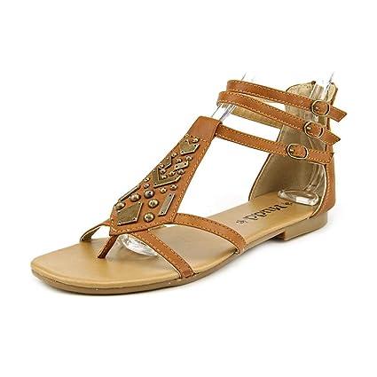 78e22b1152500 Amazon.com  Mudd Beige Khaki Embellished Gladiator Sandals - Women   Everything Else