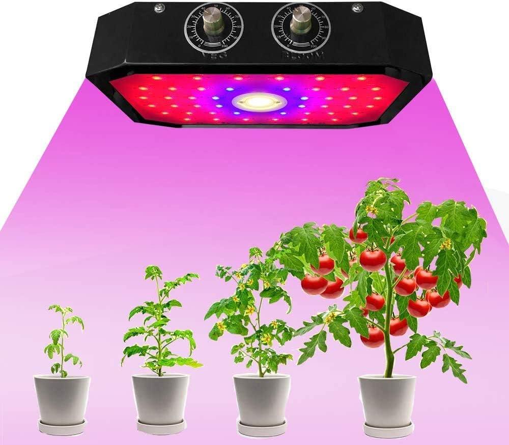 Derasl 1000W LED de espectro completo para plantas con luz ultravioleta e infrarroja, adecuado para verduras y flores en invernadero