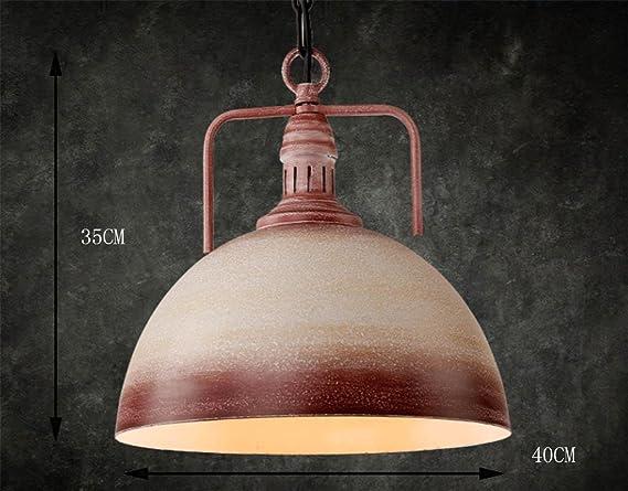 Gzd retro venti industriali lampadario bar coperchio paralume