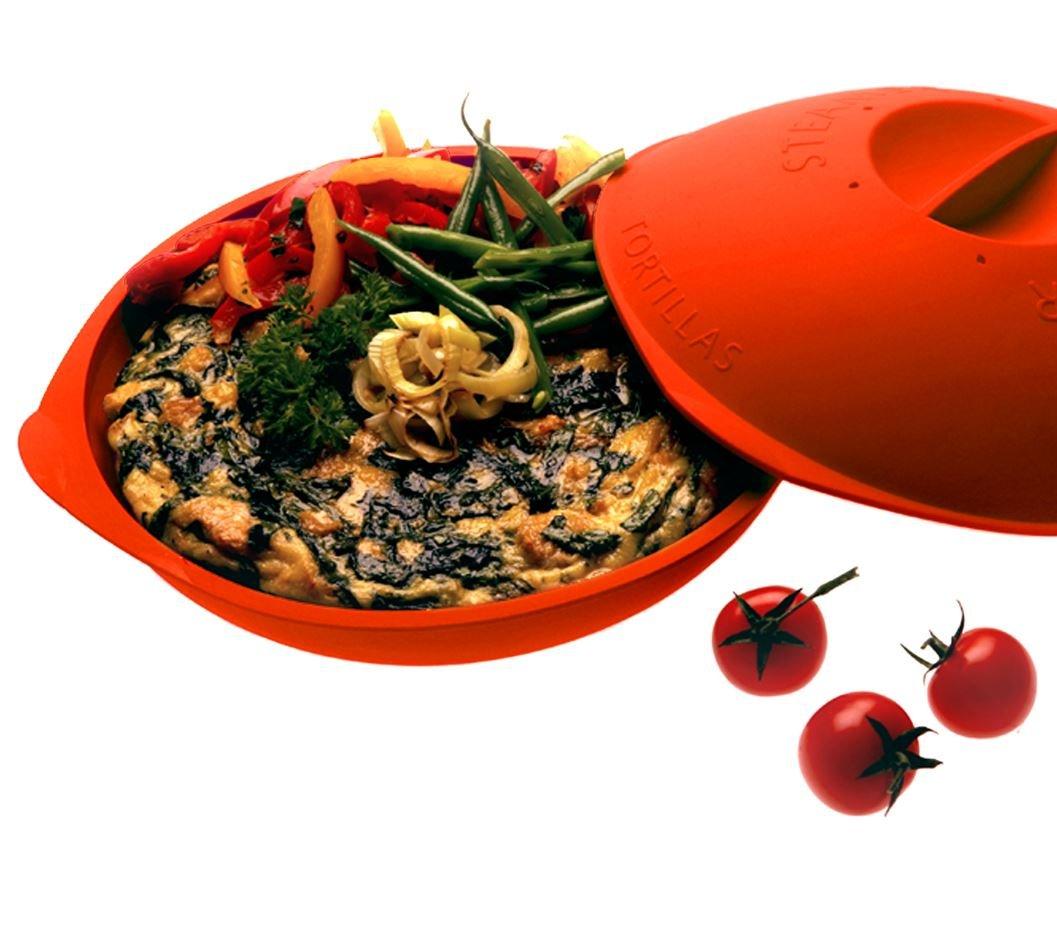Siliconezone Discus Tortilla Warmer, Red SZ04KS-10491AE