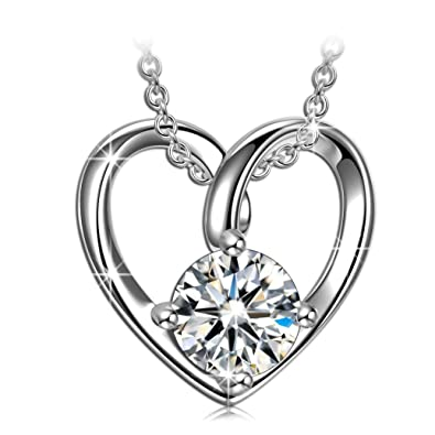 gifts for valentines day necklaces for women 925 Sterling silver heart necklace  anniversary necklace gifts for bed5ef8c7c61