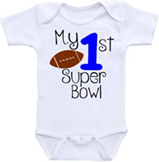 c0c2cea1d6 Amazon.com  Kid s Super Bowl 51 Logo Neutralcotton Baby Onesie ...