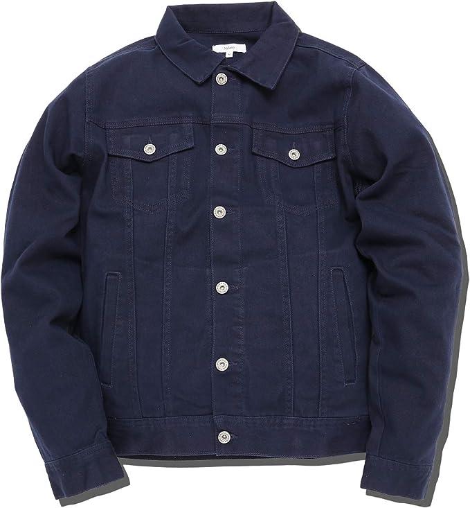 slow&easy【伸縮 カラーデニム トラッカージャケット】デニムジャケット《カジュアルはもちろんきれいめファッションに最適》Gジャン アウター