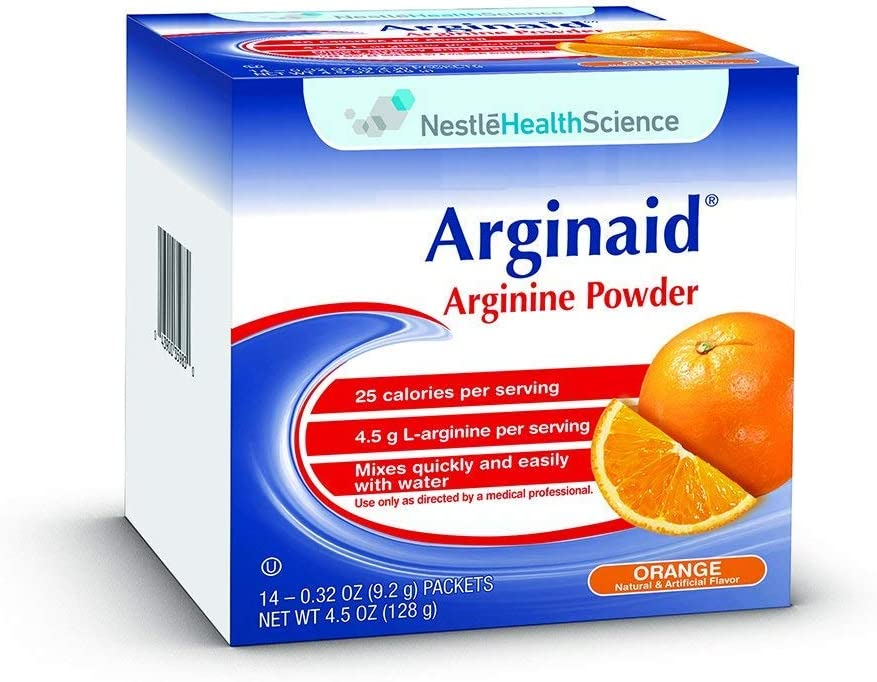 Arginaid Arginine-intensive Orange Flavor Powdered Mix 9.2g Packet 35983000 Qty 56 Per Case