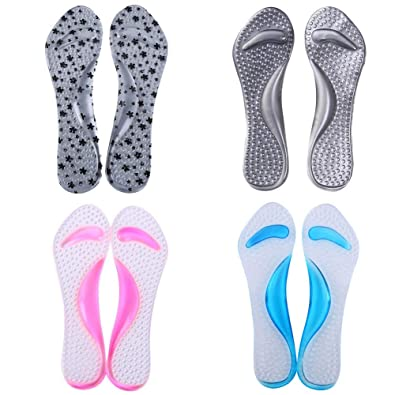 5c5892333a5 Silicone Gel Shoes Pads Soft Sandals Insole High Heel Arch Support Foot  Cushions 1 Pair PINK  Amazon.co.uk  Shoes   Bags