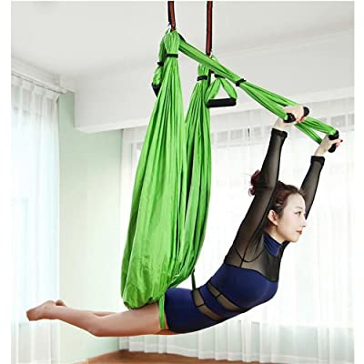 Alger Chaise extérieure en nylon de tissu de parachute d'extensible de hamac de yoga d'aptitude d'intérieur, 250 * 150cm