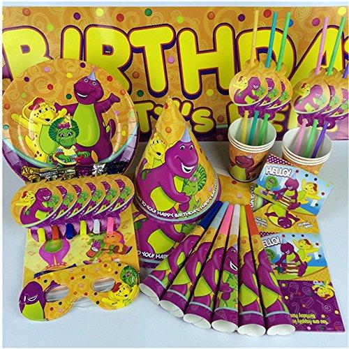 Blackjill Hatchimals Dinosaur Birthday Party Decorations Supplies KitBirthday HatsBlowing DragonsInvitation CardsBanners, Cartoon Eye MasksDinosaur Paper PlatesCartoon Paper Towels and so on