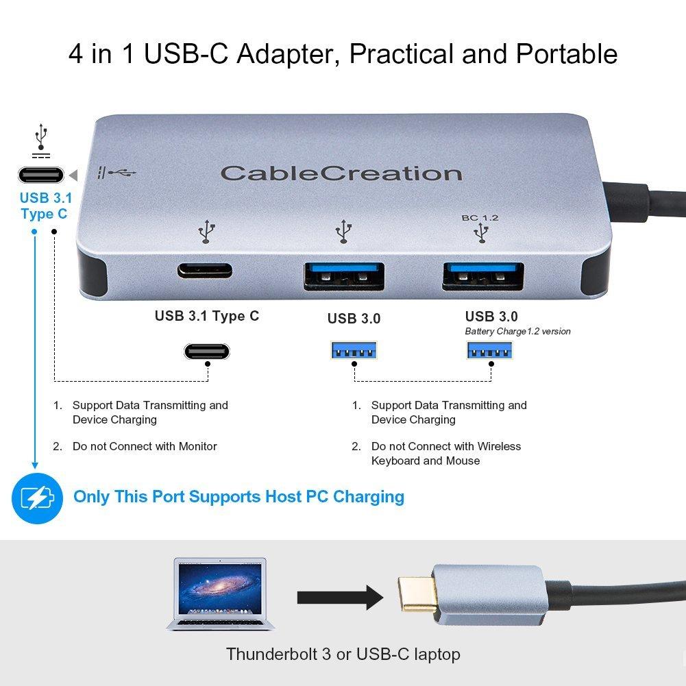 Amazon.com: USB C Hub, CableCreation tipo C Multipuerto ...
