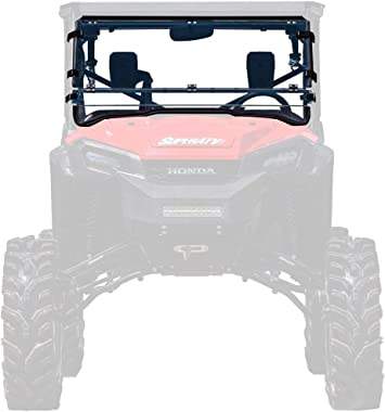 2016+ SuperATV Heavy Duty Scratch Resistant Full Windshield for Honda Pioneer 1000//1000-5 - Clear Hard Coated for Extreme Durability Installs In 5 Minutes!