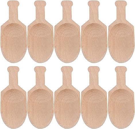 BQLZR 8,9/cm Mini cuill/ère en bois d/érable Cuill/ères en bois pour les f/êtes pour Candy /épices Maison ustensile de cuisine Lot de 5