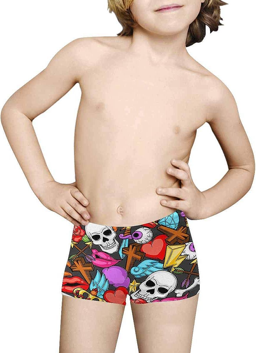 5T-2XL INTERESTPRINT Kids American Football Comfortable Breathable Briefs