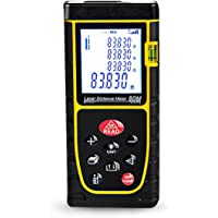 Qwork Professional Laser Distance Mètre Télémètre 79,9m/80M Handheld Laser Distance Mètre Mètre laser, outil de mesure numérique pour la Distance, DE LA Capacité du volume, calcul