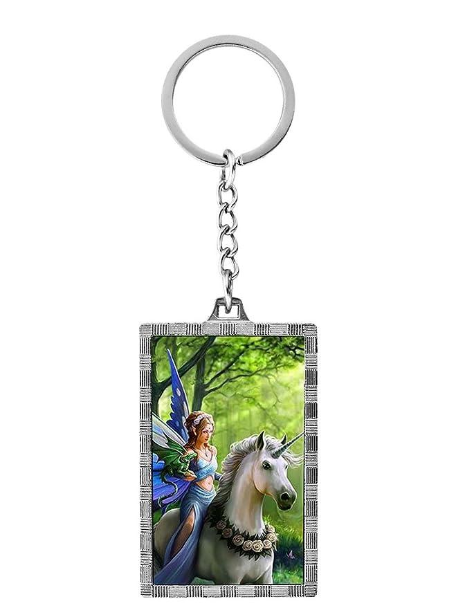 Reino del Encanto Unicornio y Hada 3D Llavero por Anne ...