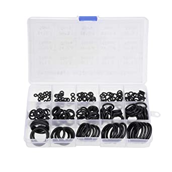 Pack of 200 Rubber Universal washers for O-Rings Rubber 10mm x 2mm Black Rubber
