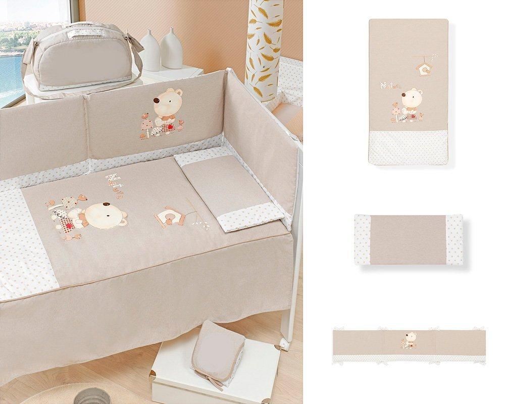 66475545071f Cuna Colecho Star Ibaby. Multiples posiciones de Somier para adaptarla a cualquier  cama + Colchón Viscoelastica + Edredon Completo: Amazon.es: Bebé