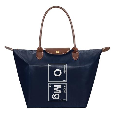 Funny oxígeno y Magnesio OMG tabla periódica plegable bolsa bolsas bolso de mano bolso de hombro