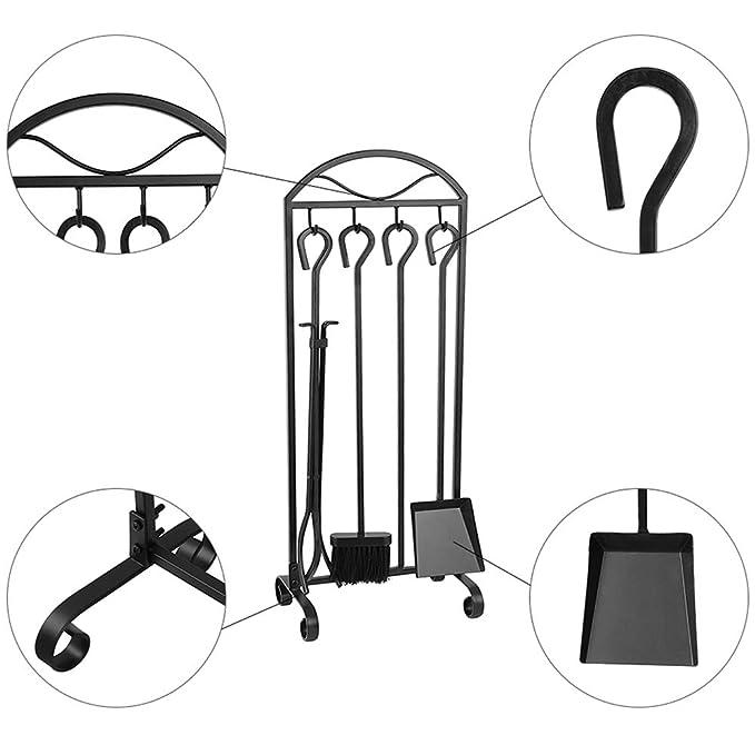 Amazon.com: Set de 5 herramientas para chimenea, con ...