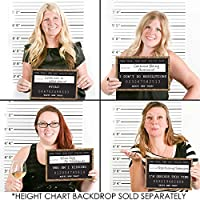 Gold New Year's Eve Party Mug Shots - New Year's Resolutions Photo Booth Props Party Mug Shots - 20 Count